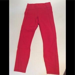 fabletics bright red leggings.